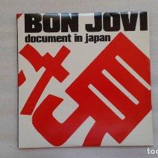 Discos de vinilo: BON JOVI - DOCUMENT IN JAPAN DOBLE LP DIRECTO NO OFICIAL EN JAPON EN 1985. Lote 74736939