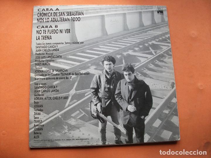 Discos de vinilo: Sanchis y Jocano MAXI LP Crónica de San Sebastián.1987 - Foto 2 - 74744047