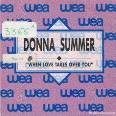 Discos de vinilo: DONNA SUMMER / WHEN LOVE TAKES OVER YOU (SINGLE PROMO 1989). Lote 91159164