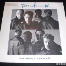 Discos de vinilo: TIN MACHINE YOU BELONG IN ROCK N' ROLL 1991 VINYL 7P SINGLE 45 RPM GERMANY. Lote 74767419
