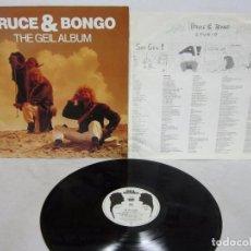 Discos de vinilo: BRUCE & BONGO - THE GEIL ALBUM - LP - GEIL RECORDS 1986 GERMANY ITALO-DISCO - N MINT. Lote 74791963