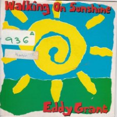 Discos de vinil: EDDY GRANT / WALKING OF SUNSHINE / CALIFORNIA STYLE (SINGLE 1989). Lote 74792283