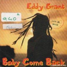 Disques de vinyle: EDDY GRANT / BABY COME BACK / WAR PARTY (SINGLE 1989). Lote 74792943