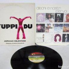 Discos de vinilo: ADRIANO CELENTANO - YUPPI DU - LP - BSO - CLAN 1975 ITALY. Lote 74792995