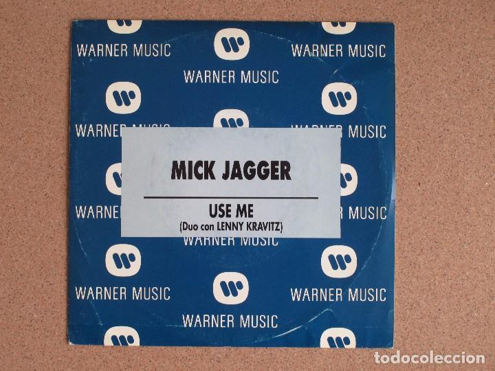 MICK JAGGER (DUO CON LENNY KRAVITZ) - USE ME - DISCO PROMOCIONAL (Música - Discos - Singles Vinilo - Pop - Rock Extranjero de los 90 a la actualidad)