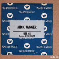 Discos de vinilo: MICK JAGGER (DUO CON LENNY KRAVITZ) - USE ME - DISCO PROMOCIONAL. Lote 74802055