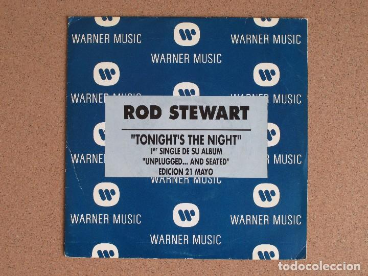Discos de vinilo: ROD STEWART- TONIGHTS IS THE NIGHT - DISCO PROMOCIONAL - Foto 1 - 74804611