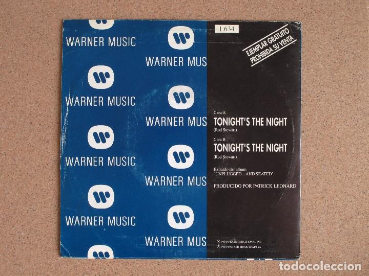 Discos de vinilo: ROD STEWART- TONIGHTS IS THE NIGHT - DISCO PROMOCIONAL - Foto 2 - 74804611