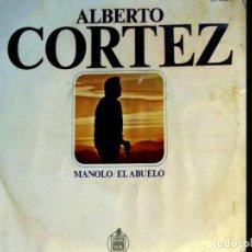 Discos de vinilo: SINGLE VINILO - ALBERTO CORTEZ - MANOLO / EL ABUELO - SG HISPAVOX 1969. Lote 74804751