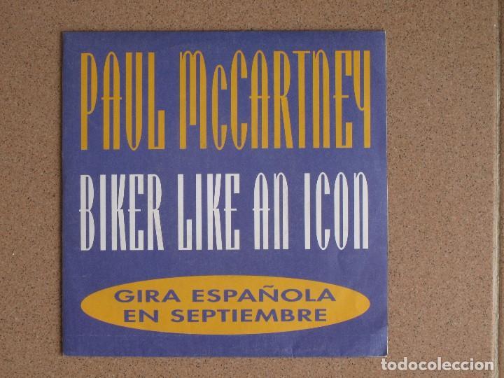 PAUL MCCARTNEY - BIKER LIKE AN ICON - DISCO PROMOCIONAL (Música - Discos - Singles Vinilo - Pop - Rock Extranjero de los 90 a la actualidad)