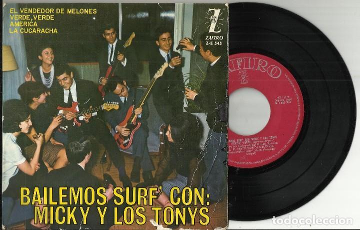 MICKY Y LOS TONYS EP EL VENDEDOR DE MELONES - VERDE VERDE + 2.1964 (Música - Discos de Vinilo - EPs - Grupos Españoles 50 y 60)