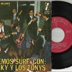 Discos de vinilo: MICKY Y LOS TONYS EP EL VENDEDOR DE MELONES - VERDE VERDE + 2.1964 . Lote 74816335