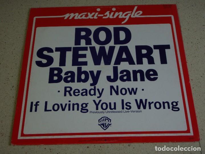 ROD STEWART ( BABY JANE - READY NOW - IF LOVING YOU IS WRONG ) GERMANY-1983 MAXI45 WARNER BROS (Música - Discos de Vinilo - Maxi Singles - Pop - Rock - New Wave Extranjero de los 80)