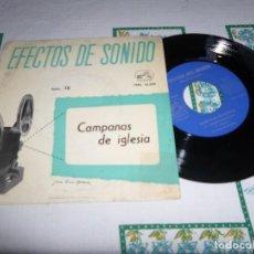 Discos de vinilo: EFECTOS DE SONIDO CAMPANAS DE IGLESIA. Lote 74863563