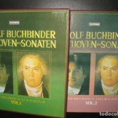 Discos de vinilo: RUDOLF BUCHBINDER BEETHOVEN-DONATEN. 2VOL. 6 LP'S + LIBRETOS.. Lote 74877939