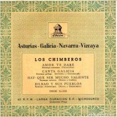 Discos de vinilo: CHIMBEROS, EP, AMOR TE DARÉ + 3 , AÑO 1959. Lote 74943111