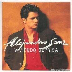 Discos de vinilo: ALEJANDRO SANZ - VIVIENDO DEPRISA. SINGLE PROMOCIONAL. TOTALMENTE NUEVO. Lote 74947775