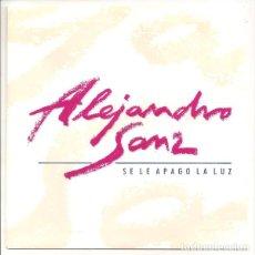 Disques de vinyle: ALEJANDRO SANZ - SE LE APAGO LA LUZ. SINGLE PROMOCIONAL. TOTALMENTE NUEVO. Lote 74948095