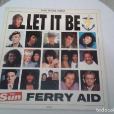 Discos de vinilo: VINILO - LET IT BE. FERRY AID. 1987. PAUL MCARTNEY Y OTROS. M-SINGLE - MUY BUEN ESTADO. Lote 74950147