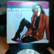Discos de vinilo: KYM SIMS - TAKE MY ADVICE - SINGLE 1992 GERMANY. Lote 74964531