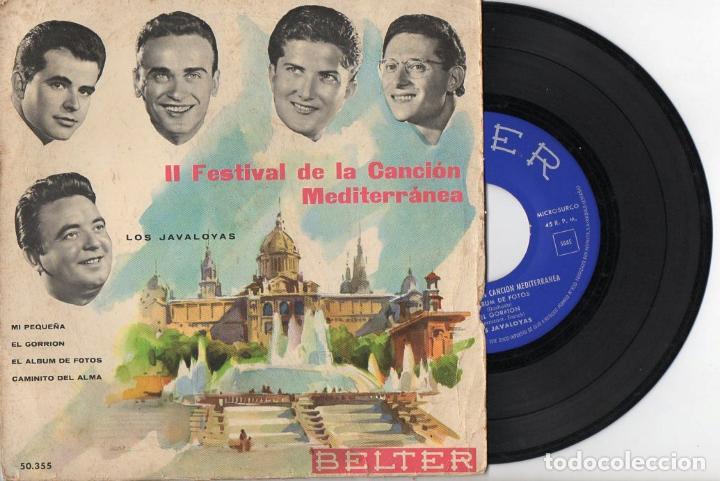 LOS JAVALOYAS : II FESTIVAL DE LA CANCIÓN MEDITERRÁNEA (BELTER, 1960) (Música - Discos de Vinilo - EPs - Grupos Españoles 50 y 60)