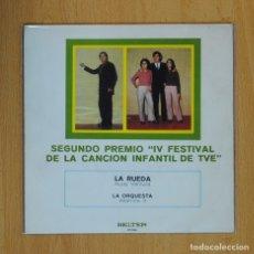 Discos de vinilo: IV FESTIVAL CANCION INFANTIL - RUDY VENTURA / ALTAMIRA 3 - LA RUEDA / LA ORQUESTA - SINGLE. Lote 74974323