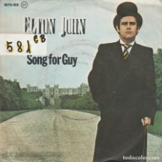 Discos de vinilo: ELTON JOHN / SONG FOR GUY / LOVESICK (SINGLE 1978). Lote 74975603