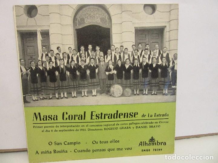 MASA CORAL ESTRADENSE DE LA ESTRADA - O SAN CAMPIO +3 - EP -1962 - ALHAMBRA - VG/VG+ (Música - Discos de Vinilo - EPs - Country y Folk)