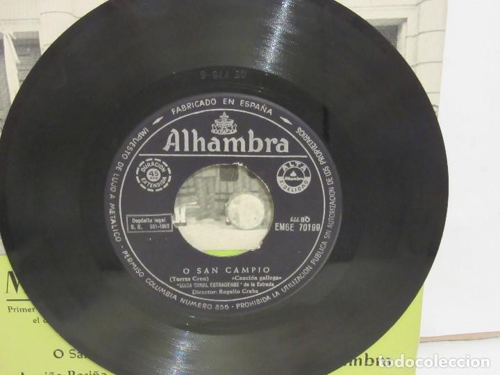 Discos de vinilo: Masa Coral Estradense De La Estrada - O San Campio +3 - EP -1962 - Alhambra - VG/VG+ - Foto 3 - 74978347