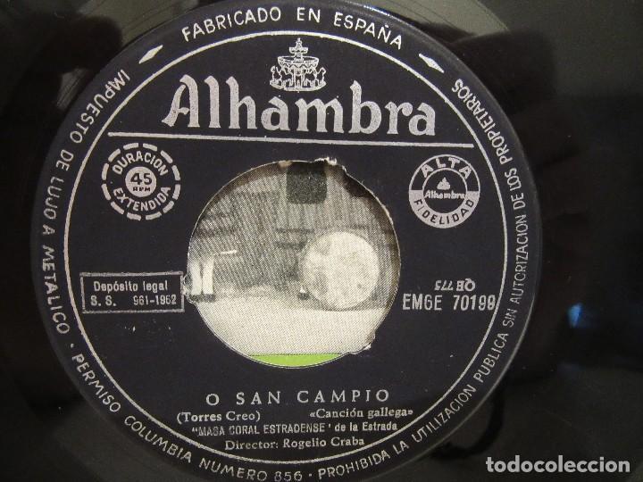 Discos de vinilo: Masa Coral Estradense De La Estrada - O San Campio +3 - EP -1962 - Alhambra - VG/VG+ - Foto 4 - 74978347