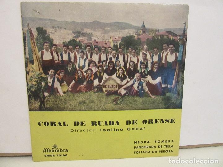 CORAL DE RUADA DE ORENSE - NEGRA SOMBRA + 2 - EP - 1962 - ALHAMBRA - VG/VG+ (Música - Discos de Vinilo - EPs - Country y Folk)