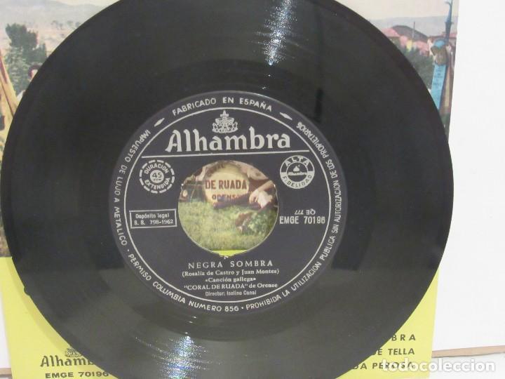 Discos de vinilo: Coral De Ruada De Orense - Negra Sombra + 2 - EP - 1962 - Alhambra - VG/VG+ - Foto 3 - 74979443
