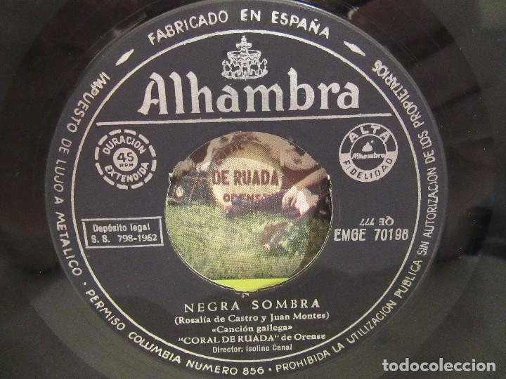 Discos de vinilo: Coral De Ruada De Orense - Negra Sombra + 2 - EP - 1962 - Alhambra - VG/VG+ - Foto 4 - 74979443