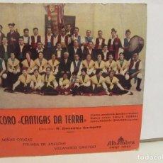 Discos de vinilo: CORO CANTIGAS DA TERRA - MIÑAS COUSAS + 2 - EP - 1962 - ALHAMBRA - VG/VG+. Lote 74979947
