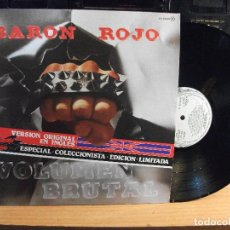 Discos de vinilo: BARON ROJO VOLUMEN BRUTAL EN INGLES EDICION LIMITADA COLECCIONISTAS - SERDISCO 1982 - LP SIN USO¡¡. Lote 74996899