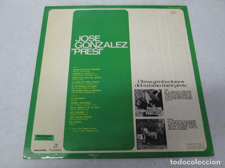 Discos de vinilo: JOSE GONZALEZ. PRESI. DISCO DE VINILO Y GRABACIONES DE MICROSURCO. COLUMBIA. VER FOTOGRAFIAS ADJUNTA - Foto 10 - 74997575