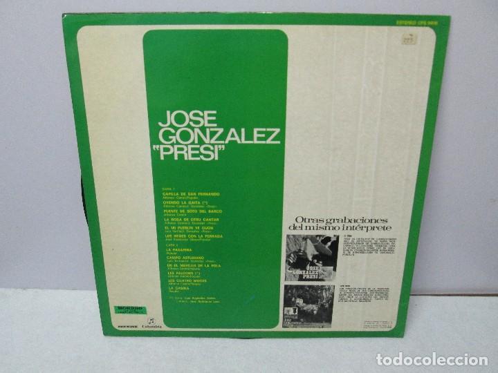 Discos de vinilo: JOSE GONZALEZ. PRESI. DISCO DE VINILO Y GRABACIONES DE MICROSURCO. COLUMBIA. VER FOTOGRAFIAS ADJUNTA - Foto 11 - 74997575