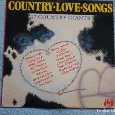 Discos de vinilo: COUNTRY LOVE SONGS(JOHNNY CASH,KENNY ROGERS,Y OTROS). Lote 75012139