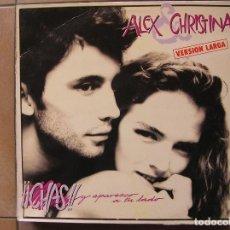 Discos de vinilo: ALEX & CHRISTINA - CHAS Y APAREZCO A TU LADO - MAXI -WEA RECORDS S. A. - MIX P. Lote 268319319