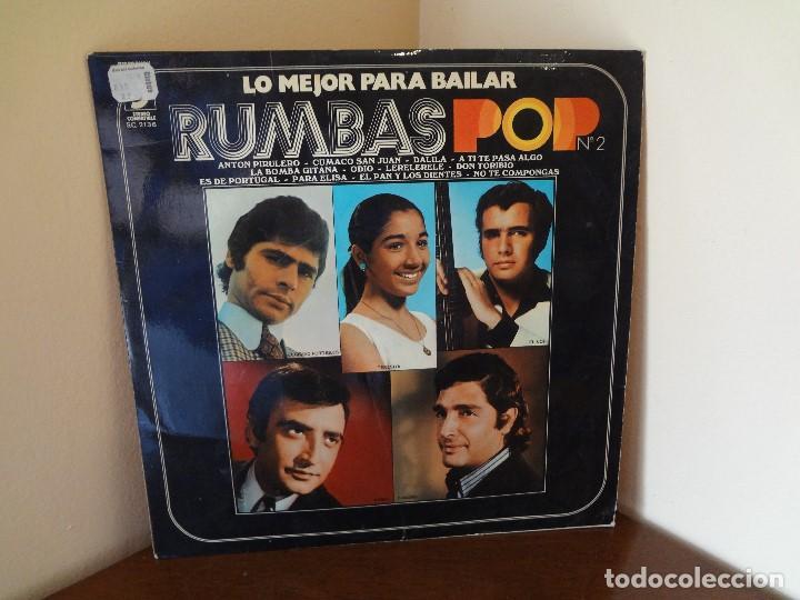 DISCO - LP RUMBAS POP N*2 LO MEJOR PARA BAILAR 1972. (Música - Discos de Vinilo - Maxi Singles - Flamenco, Canción española y Cuplé)