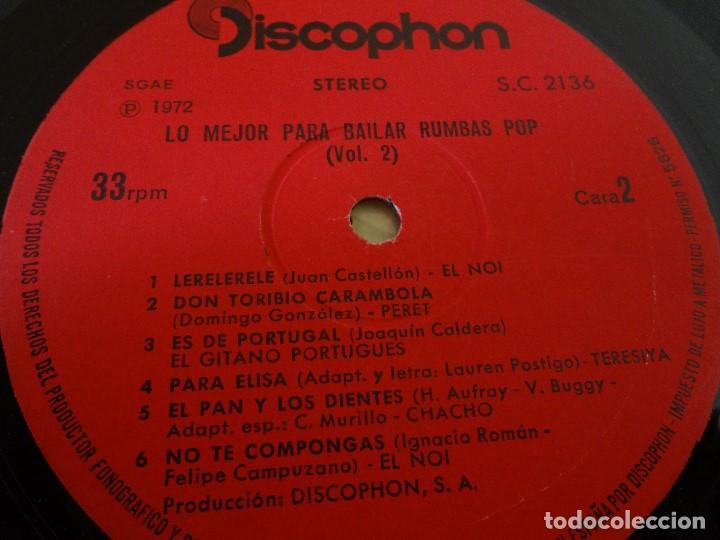 Discos de vinilo: Disco - LP RUMBAS POP N*2 lo mejor para bailar 1972. - Foto 5 - 75075339
