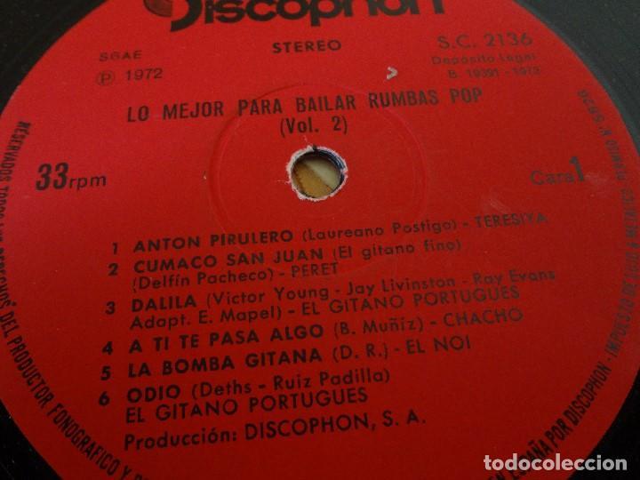Discos de vinilo: Disco - LP RUMBAS POP N*2 lo mejor para bailar 1972. - Foto 7 - 75075339