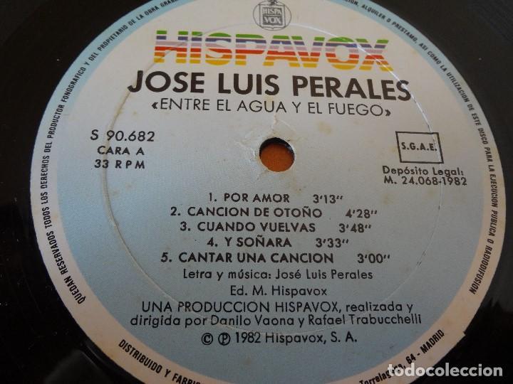 Discos de vinilo: DISCO -LP- VINILO JOSE LUIS PERALES ,ENTRE EL AGUA Y EL FUEGO - Foto 6 - 75076839