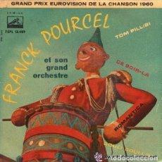 Discos de vinilo: FRANCK POURCEL - GRAND PRIX EUROVISION DE LA CHANSON 1960 - TOM PILLIBI + 3 TEMAS. Lote 75088943