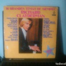 Discos de vinilo: RICHARD CLAYDERMAN - 16 GRANDES TEMAS DE SIEMPRE. Lote 75099151