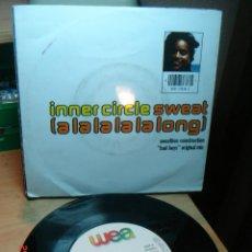 Discos de vinil: INNER CIRCLE - SWEAT (A LA LA LA LA LONG) / BAD BOYS - SINGLE 1992. Lote 75165535