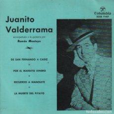 Dischi in vinile: JUANITO VALDERRAMA / DE SAN FERNANDO A CADIZ ...EP COLUMBIA DE 1960 RF-1677. Lote 75185139