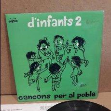 Discos de vinilo: CANÇONS PER AL POBLE. D'INFANTS 2. EP /EUFÒNIC - 1974 / MBC. ***/***. Lote 75201023