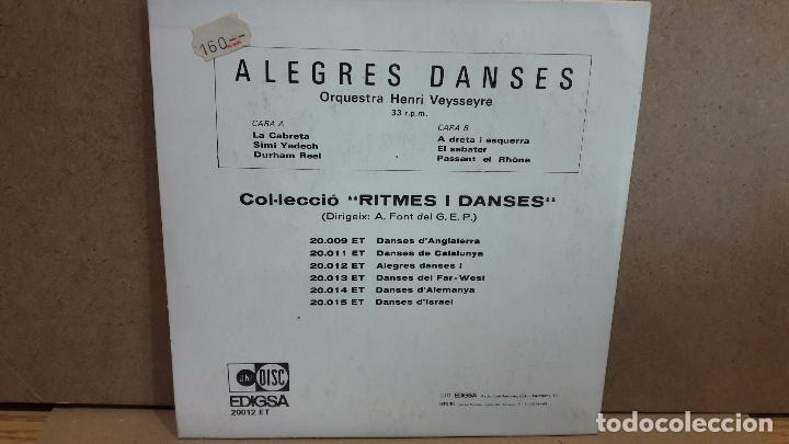 Discos de vinilo: ORQUESTA HENRI VEYSSEYRE. ALEGRES DANSES 1. EP / EDIGSA - 1969 / MBC. ***/*** - Foto 2 - 75207615