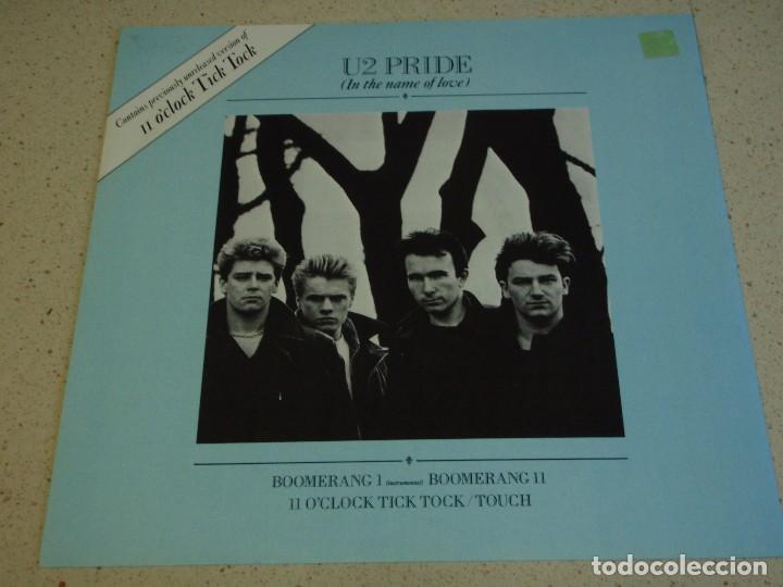 U2 ( PRIDE - BOOMERANG I - BOOMERANG II - II O'CLOCK TICK TOCK - TOUCH ) ENGLAND-1984 MAXI45 ISLAND (Música - Discos de Vinilo - Maxi Singles - Pop - Rock - New Wave Internacional de los 80)
